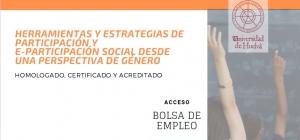 Curso Internacional Online Homologado, Certificado y Acreditado de Herramientas y Estrategias de Participación y e-Participación Social desde una perspectiva de género