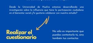 Estudio sobre la influencia de la participación ciudadana en el bienestar social. Si te gustaría colaborar, sigue leyendo...