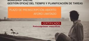 Abierto plazo de preinscripción: Workshop Online Gestión eficaz del tiempo y planificación de tareas