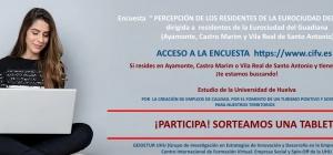 """PROYECTO DE INVESTIGACIÓN DE LA UNIVERSIDAD DE HUELVA """"PERCEPCIÓN DE LOS RESIDENTES DE LA EUROCIUDAD DEL GUADIANA ′′. Si te gustaría colaborar, sigue leyendo..."""