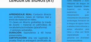 Curso Online Certificado y Acreditado: INICIACIÓN A LA LENGUA DE SIGNOS (NIVEL A1)