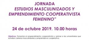 Invitación_JORNADA PRESENCIAL: Estudios masculinizados y emprendimiento cooperativista femenino. AFORO LIMITADO. Se entregará certificado de asistencia.