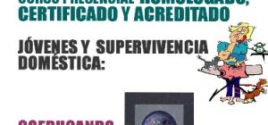 Curso presencial homologado, certificado y acreditado: Jóvenes y supervivencia doméstica: Coeducando en IGUALDAD