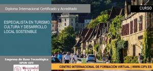 Curso Internacional Online Certificado y Acreditado de Especialista en Turismo, Cultura y Desarrollo Local Sostenible. INCLUSIÓN EN BOLSA DE EMPLEO