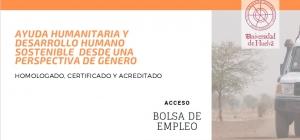 Curso Internacional Online Homologado, Certificado y Acreditado de Ayuda Humanitaria y Desarrollo Sostenible desde una perspectiva de género