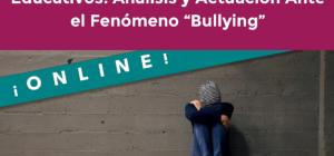 """CURSO ONLINE AGRESIVIDAD Y VIOLENCIA EN LOS CENTROS EDUCATIVOS. ANÁLISIS Y ACTUACIÓN ANTE EL FENÓMENO """"BULLYING"""""""